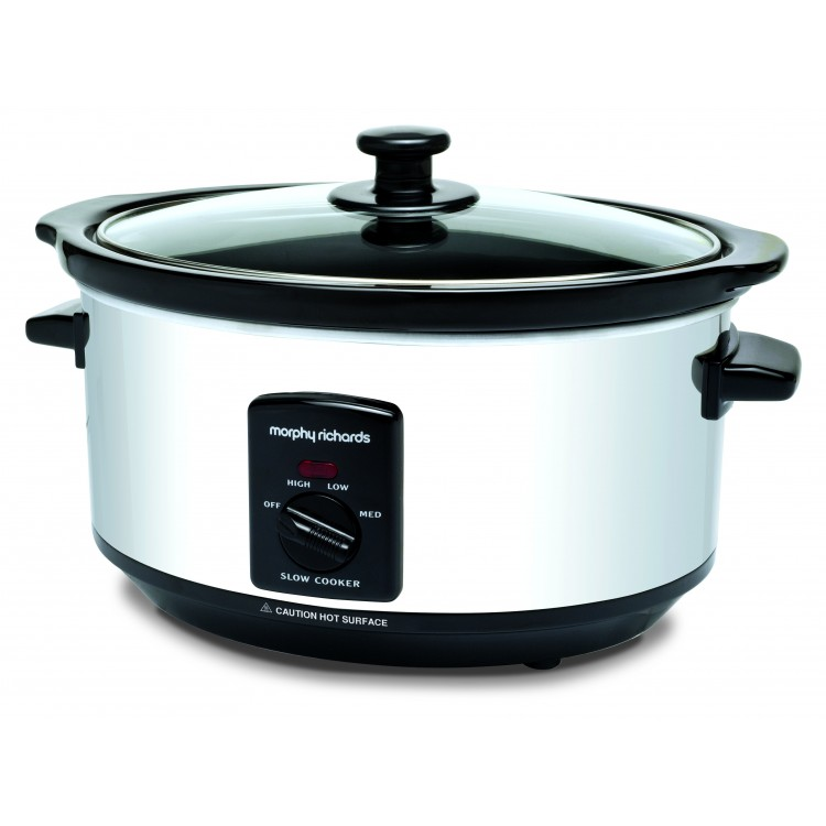 Morphy Richards 3.5L Oval Stainless Steel Slow Cooker | 48710