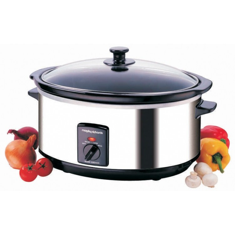 Morphy Richards 6.5L Oval Stainless Steel Slow Cooker | 48715