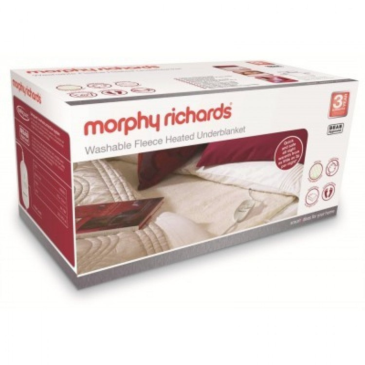 Morphy Richards Washable Fleece Heated Underblanket Double | 600013